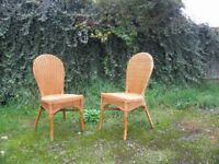 4 wicker dining/conservatory chairs
