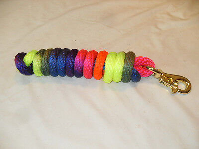 NEW RAINBOW COLOR POLY  LEAD ROPE  5/8