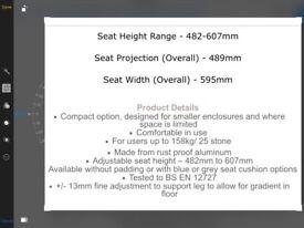 Grey AKW 2000 series folding shower seat
