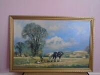 PICTURE OF HORSES PLOUGHING