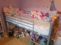 Children's bed frame and mattress