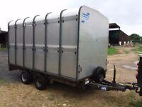 Ifor Williams DP120 multi-use trailer - livestock, hay rack ends, flatbed, builders