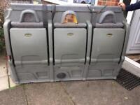 Van rear seat / flip up seat