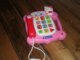 Hello Kitty Phone and Vtech musical Apple £5
