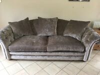 Sofa set 4 seater & 3 seater from DFS - colour mink