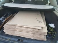 Cardboard moving boxes, double walled, plus cardboard wrap