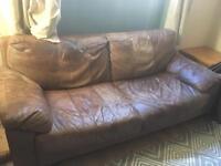 FREE! Two leather sofas