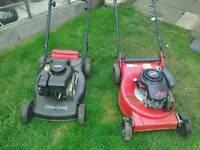 Petrol lawnmowers x 2
