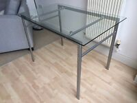 NEXT Glass and Chrome Dining Table - BRAND NEW FOR SALE