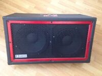 Guitar cabinet Powered by Omega 2 x 12 Guitar or Bass wedge cabinet made in USA