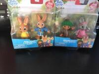 Peter rabbit cottontail figures for treehouse