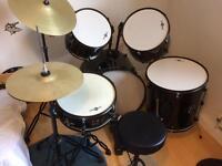 Junior drum kit plus extra cymbal