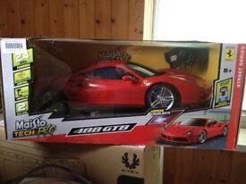 Remote Controlled Car. Red Ferrari 488 GTB
