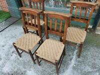 Pair Of Old Chapel / Hall Chairs