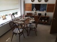 Ercol dining suite and dresser