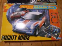 """SCALEXTRIC 2 x Micro Scalextric """"Mighty Minis BMW"""" and """"Need for Speed"""""""