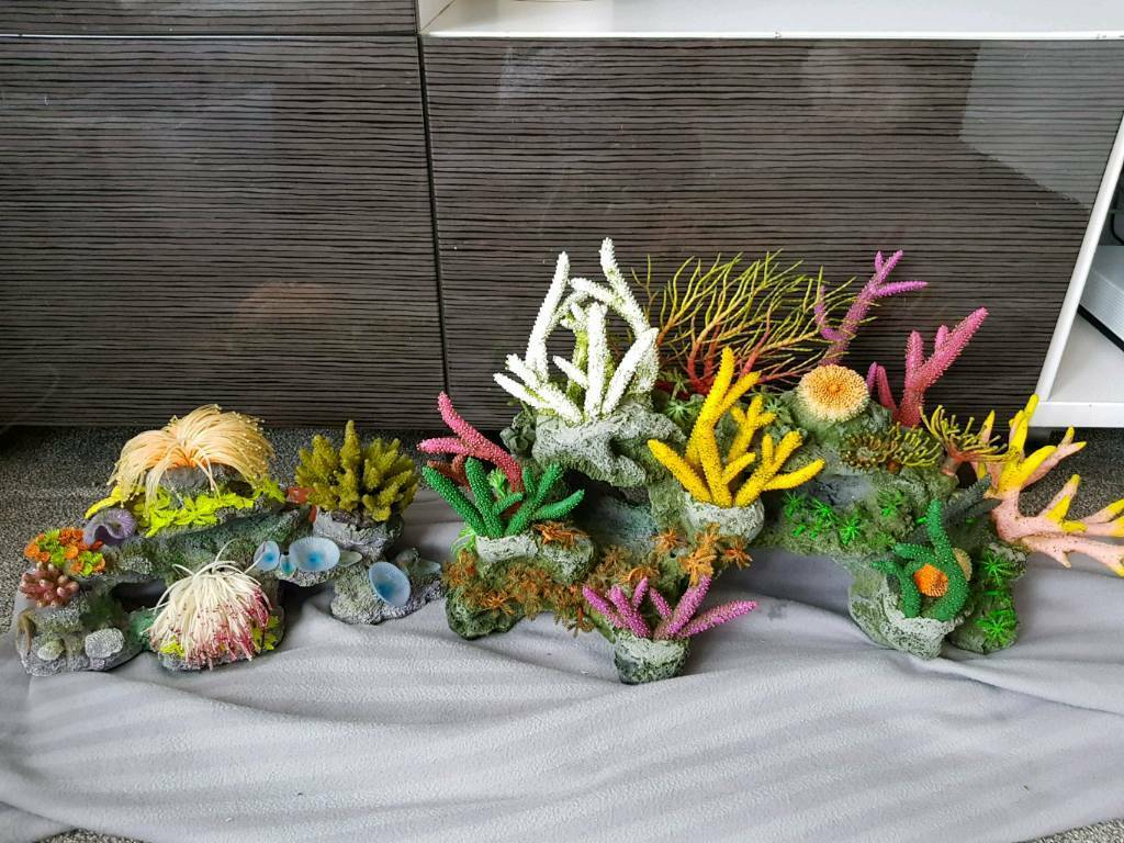 Large and Medium Tropical Coral Fish Tank Ornaments Sell together or seperate