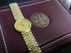 Plaget 18k yellow gold dancer womens watch