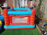 kids blow up bouncy castle and water activity splash