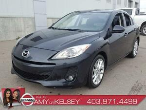 2013 Mazda Mazda3 GT **LOW KIM** LEATHER/NAV/SUNROOF