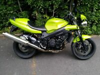 Triumph Speed Four, 13488 miles, beautiful condition, service history, scottoiler,rack, renthal bars