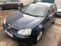 VW GOLF 1.9 TDi 2007 Black 5 Door 12 MONTHS MOT Service History £1450