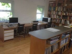 WIMBLEDON FANTASTIC OFFICE SHARE OPPORTUNITY - IDEAL LOCATION NEXT TO THE STATION