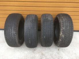 4 x Bridgestone Dueler 245/65R17 tyres