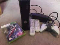 Xbox 360 250GB Black Slim Console + Lots of Free Extras (Games, Remotes, Controller)!