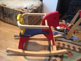 Wooden Rocking Horse (Children's) Great Condition
