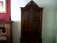 """ANTIQUE GLASS CABINET"""