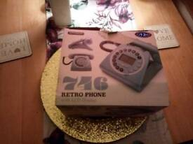 Retro home phone with LCD screen