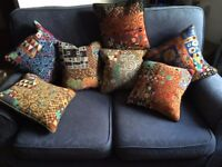 Seven KLIMT hand embroidered, professionally finished cushions - NEW PRICE