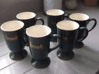 Set of 6 Harrods Mugs