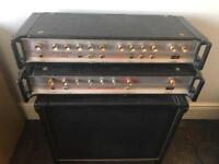 """HH V-S Bass amp and IC 100L heads and 15"""" celestion G-15 150 8ohms speaker cab"""
