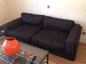 Cargo fabric 3 seater sofa