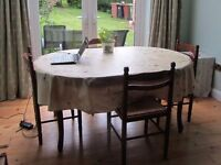 Quiet dining room table can be hired as workspace / home office during the day in Oxford