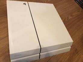 White PS4 500GB f/w 4.07