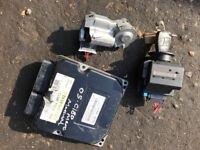 05 MERCEDES C180 PETROL FULL KEY SET WITH E,C,U
