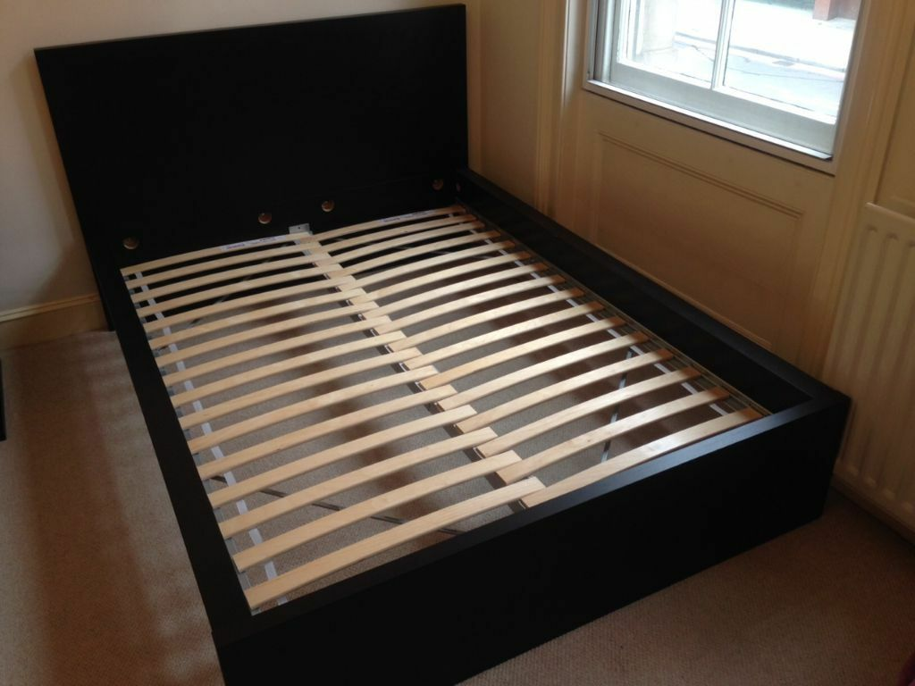 IKEA MALM Bed frame + Sultan Luröy slatted bed base for ...