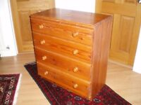 Pine Chest of Drawers Bedroom drawer unit