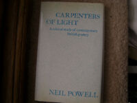 Carpenters of Light, analysis of poems of Gunn, Larkin, Donald Davie, very good condition