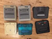N64 SNES Megadrive Dreamcast Sega Nintendo Sony PS2 console games controllers retro mario sonic