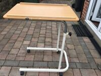 Bed Table - ideal for using to care for someone unwell and confined to bed.
