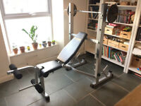 YORK B540 HEAVY DUTY WEIGHTS BENCH AND SQUAT RACK