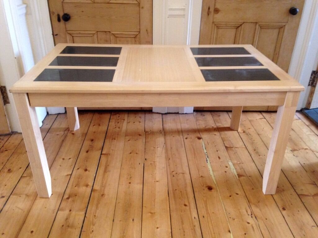 Dining Room Table Beech With Slate Inserts In East