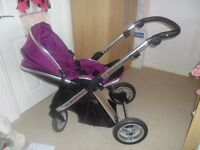 BabyStyle Oyster Mirror 2 Chassis Grape Award Winning Pushchair