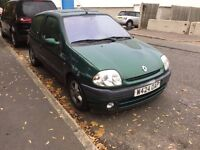 RENAULT CLIO PETROL MANUAL 3 DOOR HATCHBACK GOOD DRIVE CHEAP CAR MOT SMALL NO CORSA MEGANE FIESTA KA
