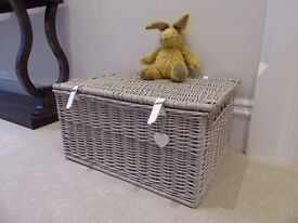 Large Hamper Basket with Daylesford Bunny - AS NEW