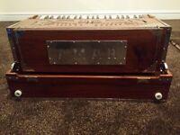 Brand new Tripple Reed,coupler, teak wood folding Harmonium for sale
